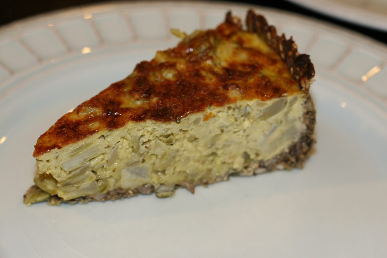 Quiche de Alcachofas Low Carb